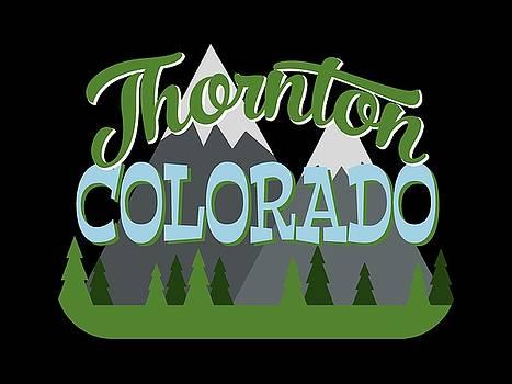 Flo Karp - Thornton Colorado Retro Mountains Trees