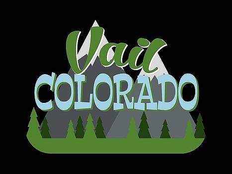 Flo Karp - Vail Colorado Retro Mountains Trees