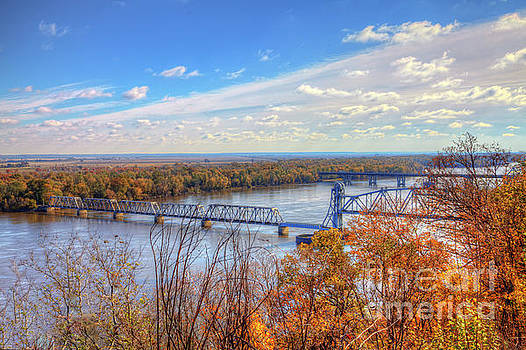 Larry Braun - Wabash Bridge Across the Mississippi River