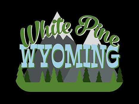 Flo Karp - White Pine Wyoming Retro Mountains Trees