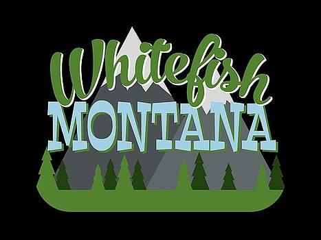 Flo Karp - Whitefish Montana Retro Mountains Trees