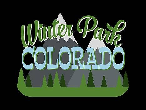 Flo Karp - Winter Park Colorado Retro Mountains Trees