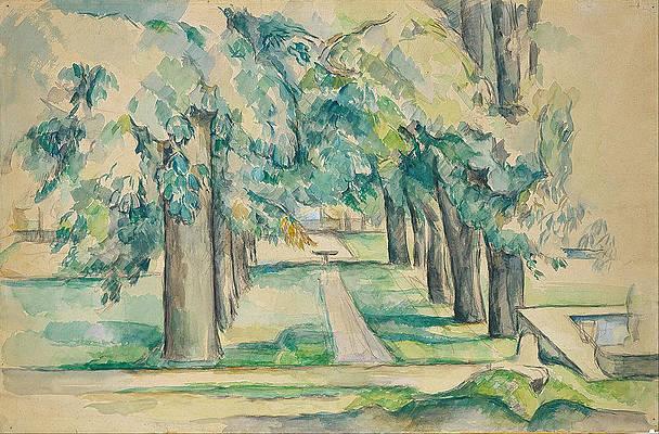Avenue of Chestnut Trees at the Jas de Bouffan Print by Paul Cezanne