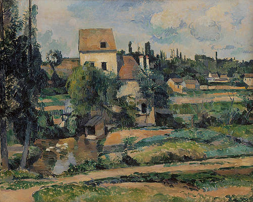 Mill on the Couleuvre at Pontoise Print by Paul Cezanne