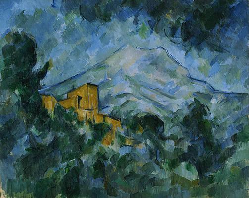 Mont Sainte Victoire and Chateau Noir Print by Paul Cezanne