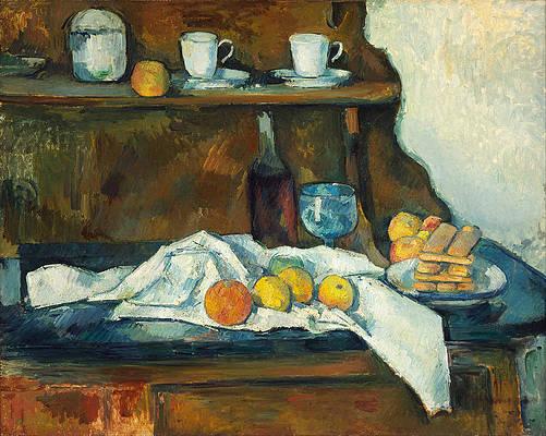 The Buffet Print by Paul Cezanne