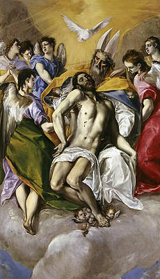 The Holy Trinity Print by El Greco