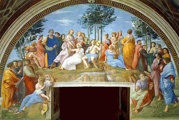 The Parnassus Print by Raphael