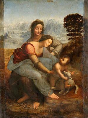 The Virgin and Child with St. Anne Print by Leonardo Da Vinci