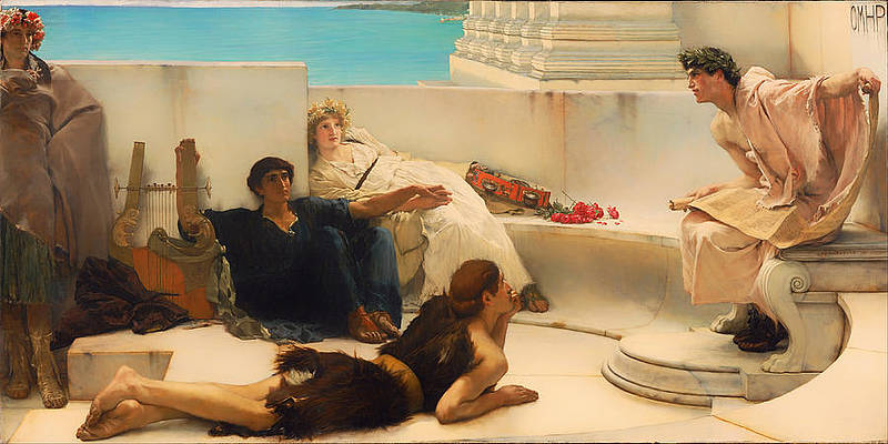 A Reading From Homer Print by Lawrence Alma-Tadema