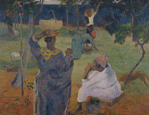 Among the mangoes at Martinique Print by Paul Gauguin
