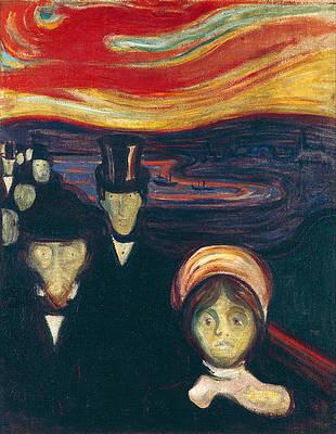 Anxiety Print by Edvard Munch