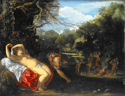 Apollo and Coronis Print by Adam Elsheimer