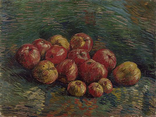 Apples Print by Vincent van Gogh