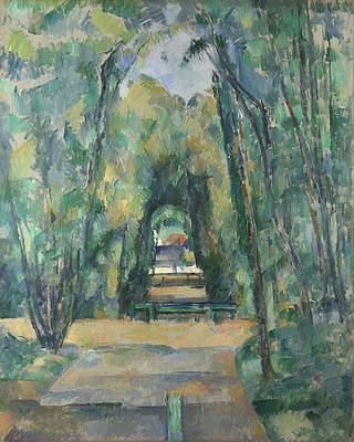 Avenue at Chantilly Print by Paul Cezanne