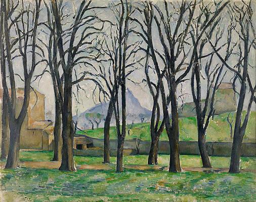 Chestnut Trees at Jas de Bouffan Print by Paul Cezanne