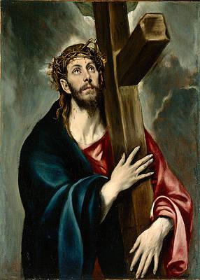 Christ Carrying the Cross Print by El Greco