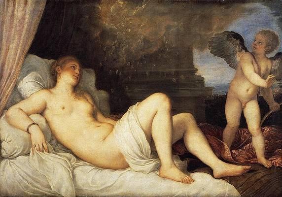 Danae Print by Titian