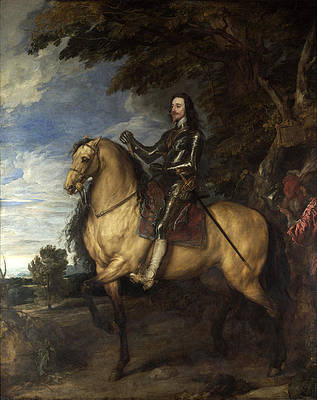 Equestrian Portrait of Charles I Print by Anthony van Dyck