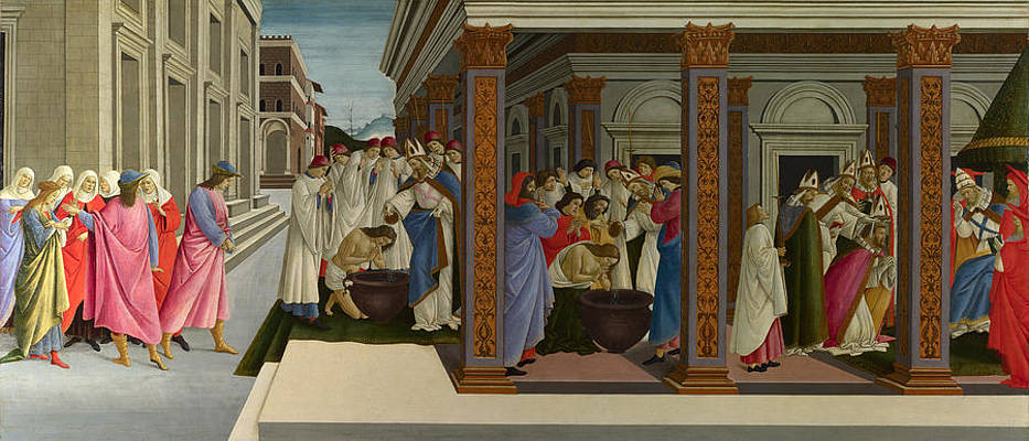 Four Scenes from the Early Life of Saint Zenobius Print by Sandro Botticelli