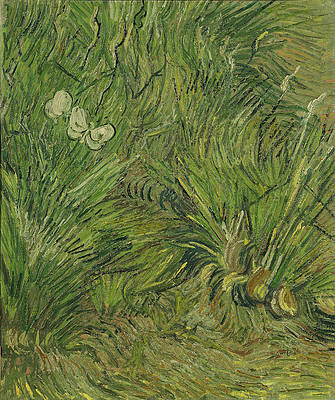 Garden with Butterflies Print by Vincent van Gogh