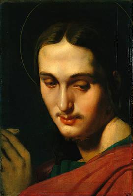 Head of Saint John the Evangelist Print by Jean-Auguste-Dominique Ingres