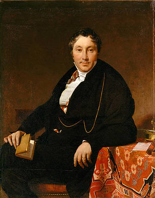 Jacques-Louis Leblanc Print by Jean Auguste Dominique Ingres