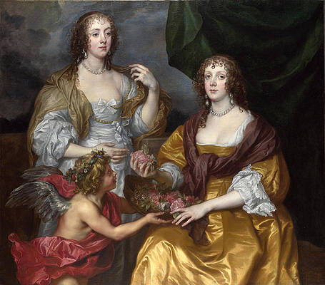 Lady Elizabeth Thimbelby and her Sister Print by Anthony van Dyck