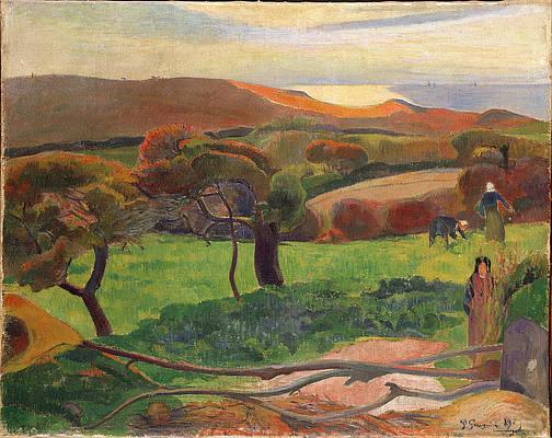 Landscape from Bretagne Print by Paul Gauguin
