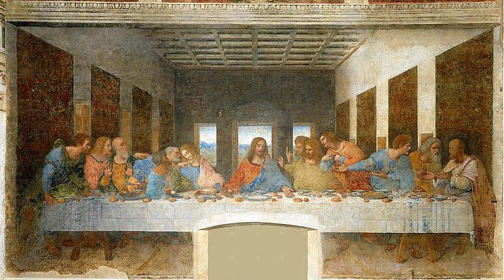 Last Supper Print by Leonardo Da Vinci