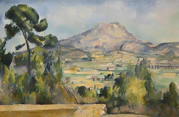 Montagne Saint-victoire Print by Paul Cezanne