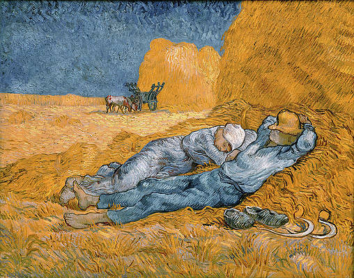 Noon. Rest from Work Print by Vincent van Gogh
