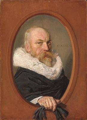 Petrus Scriverius Print by Frans Hals
