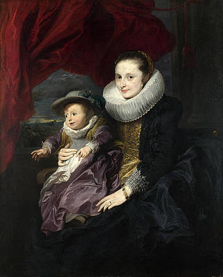 Portrait of a Woman and Child Print by Anthony van Dyck