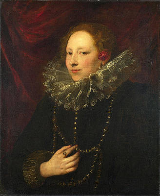 Portrait of a Woman Print by Anthony van Dyck