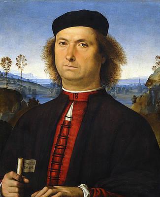 Portrait of Francesco delle Opere Print by Pietro Perugino