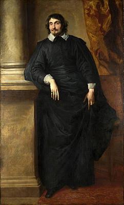Portrait of the Abbe Scaglia Print by Anthony van Dyck