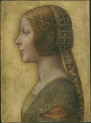 Profile of a Young Fiancee Print by Leonardo Da Vinci