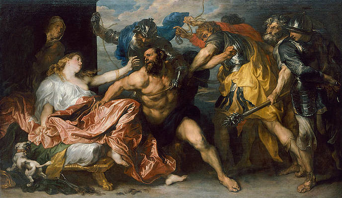 Samson and Delilah Print by Anthony van Dyck