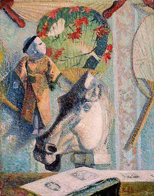 Still Life with Horse's Head Print by Paul Gauguin