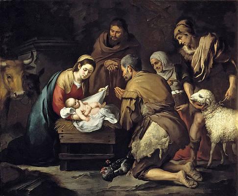 The Adoration of the Shepherds Print by Bartolome Esteban Murillo