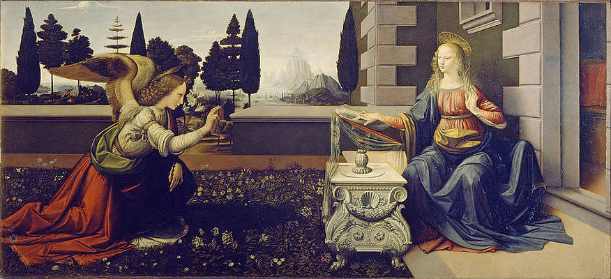 The Annunciation Print by Leonardo Da Vinci