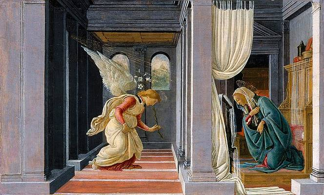 The Annunciation Print by Sandro Botticelli