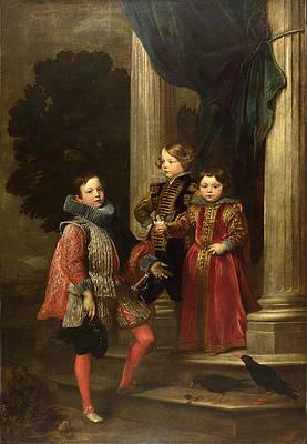 The Balbi Children Print by Anthony van Dyck