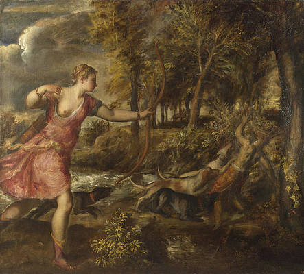 The Death of Actaeon Print by Titian