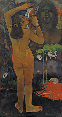 The Moon and the Earth Print by Paul Gauguin
