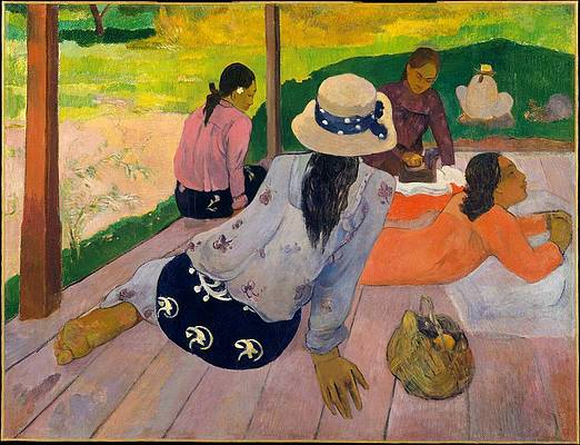 The Siesta Print by Paul Gauguin