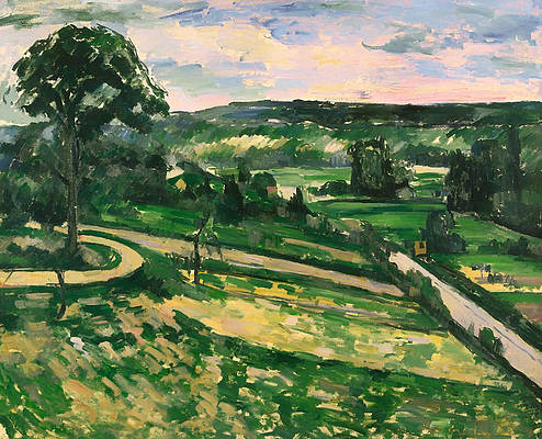 The Tree by the Bend Print by Paul Cezanne
