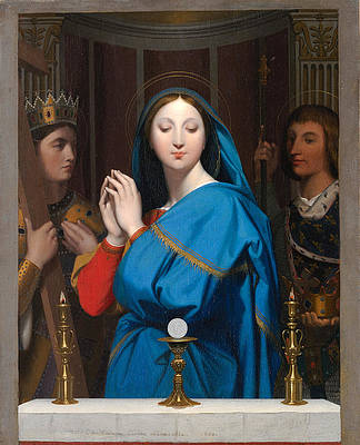 The Virgin Adoring the Host Print by Jean-Auguste-Dominique Ingres