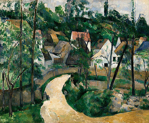 Turn in the Road Print by Paul Cezanne